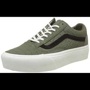 eebe91d48a3 Vans Shoes - Vans Old Skool Platform Green Snake Skin